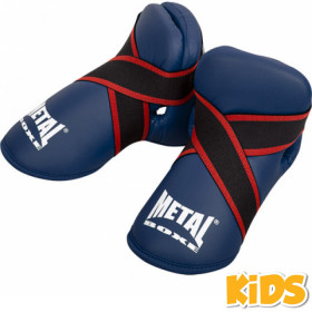 Protège pieds Enfant Full Contact Metal Boxe - Bleu