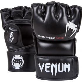 Venum Impact MMA Gloves - Black - Skintex Leather