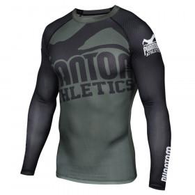 Rashguard Phantom Athletics Supporter - Vert/Noir - Manches longues
