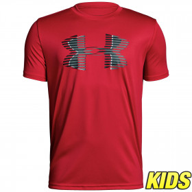 T-shirt Enfant Under Armour Tech Big Logo - Rouge
