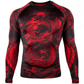 Venum Dragon's Flight Rashguard - Long Sleeves - Black/Red