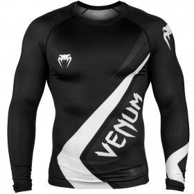 Venum Contender 2.0 Rashguard - Long Sleeves - Black/Grey-White