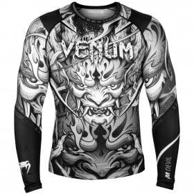 Venum Devil Rashguard - Long Sleeves - White/Black