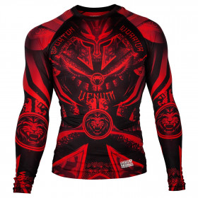 Venum Gladiator 3.0 Rashguard - Black/Red - Long Sleeves