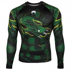 Venum Green Viper Rashguard - Long Sleeves - Black/Green