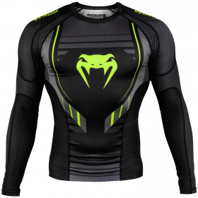Venum Technical 2.0 Rashguard - Long Sleeves - Black/Yellow