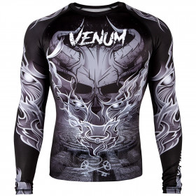 Venum Minotaurus Rashguard - Long Sleeves - Black/White