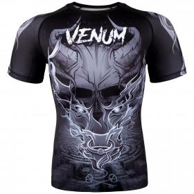 Venum Minotaurus Rashguard - Short Sleeves - Black/White