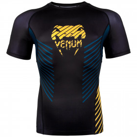 Venum Plasma Rashguard - Short Sleeves - Black/Yellow