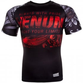 Venum Koi 2.0 Rashguard - Short Sleeves - Black/White