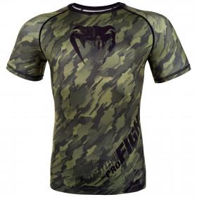 Venum Tecmo Rashguard Short Sleeves- Khaki