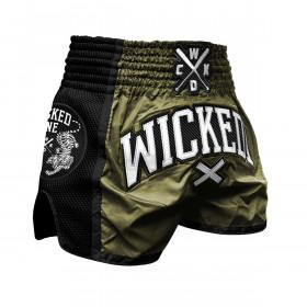 Muay Thai short Wicked One Cross - Kaki