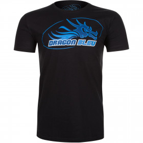 T-shirt Dragon Bleu – Black