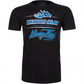 T-shirt Dragon Bleu Muay Thai - Black