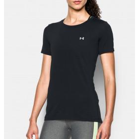 T-shirt Femme UA Heatgear - Noir