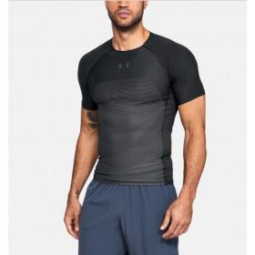 T-shirt de compression UA Threadborne Vanish - Noir