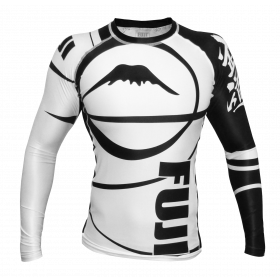 Rashguard Fuji Sports Freestyle IBJJF Ranked - Manches longues - Blanc