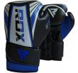 RDX Sport Sac de Frappe Plein + Gants de boxe - Pour enfant - Noir/Bleu