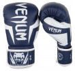 Venum Elite Boxing Gloves - White/Navy Blue