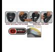 Casque à grille RDX Sports Zero impact - Noir/Rouge