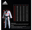Dobok Taekwondo Adidas Contest - Col Blanc - Approuvé WTK