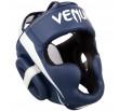 Venum Elite Headgear - White/Navy Blue
