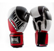 Metal Boxe  Competition Boxing Gloves- Black / White / Red