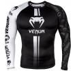 Venum Logos Rashguard Long Sleeves - Black/White