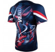 Venum Rooster Rashguard - Short Sleeves - Navy Blue/Orange
