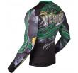 Venum Crocodile Rashguard - Black/Green - Long Sleeves