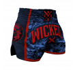 Short Muay thai Wicked One Born to Resist - Navy/Red